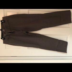 Loft crop pants - gray, size 6.